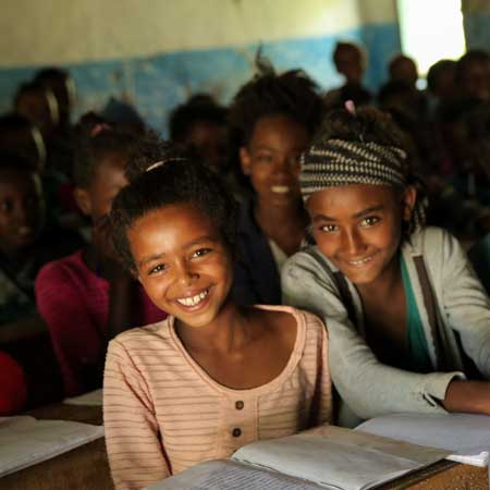 Äthiopische Kinder in der Schule