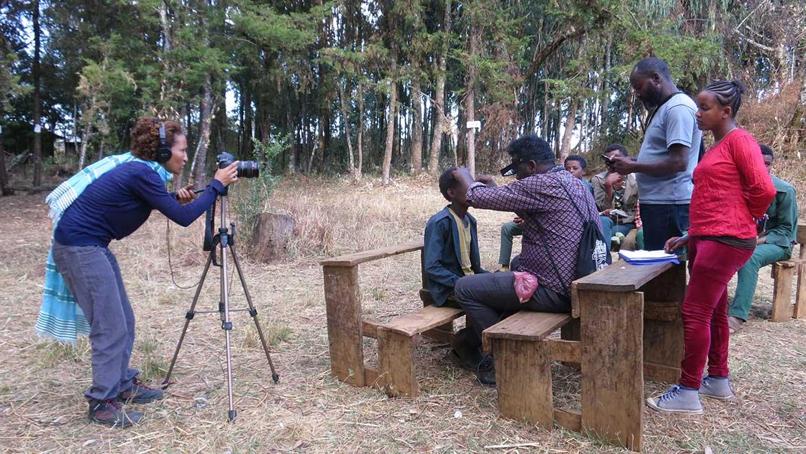 Fotografin in Äthiopien mit Augenarzt