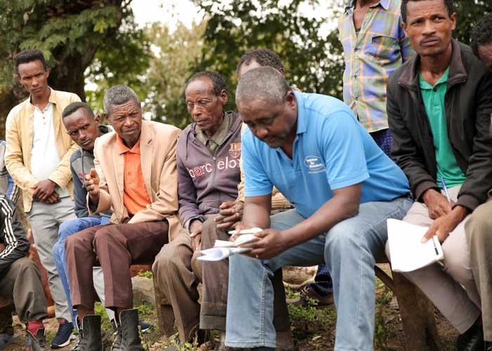 Mitarbeiter von menschen für Menschen im Projekt