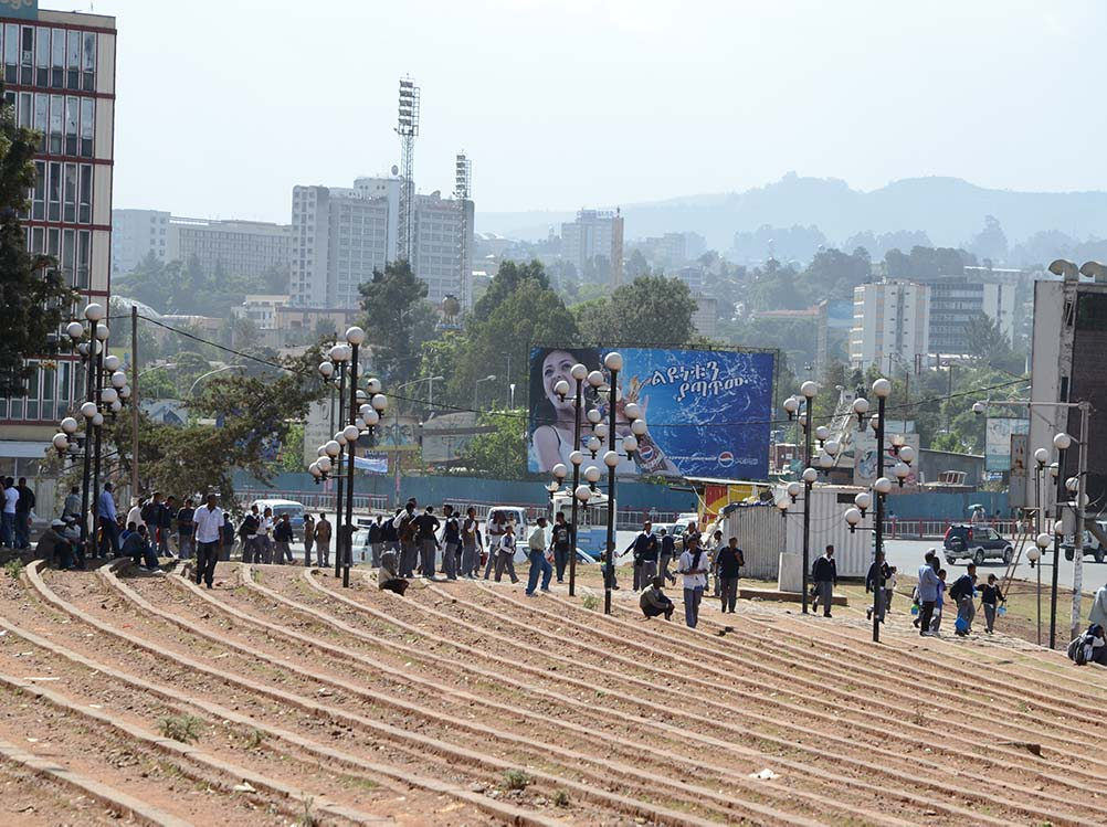 Meskel Square in Addis Abeba in Äthiopien