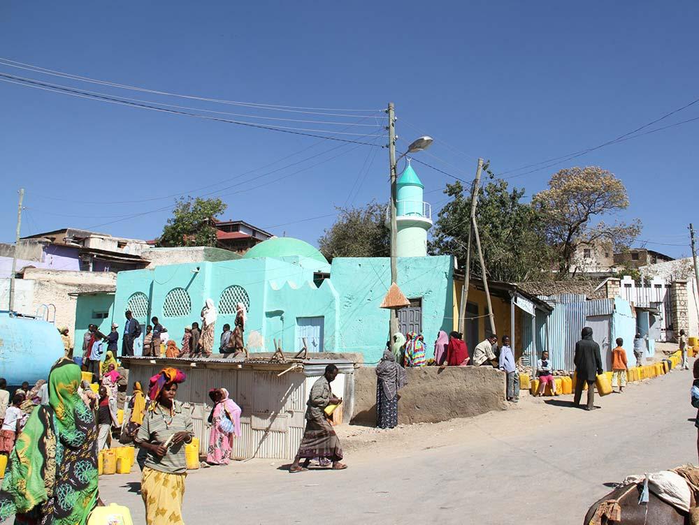 Blaue Kirche in Äthiopien