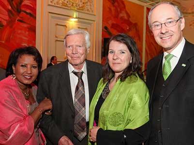 Karlheinz und Almaz Böhm bei der Essl Social Prize Verleihung 2011