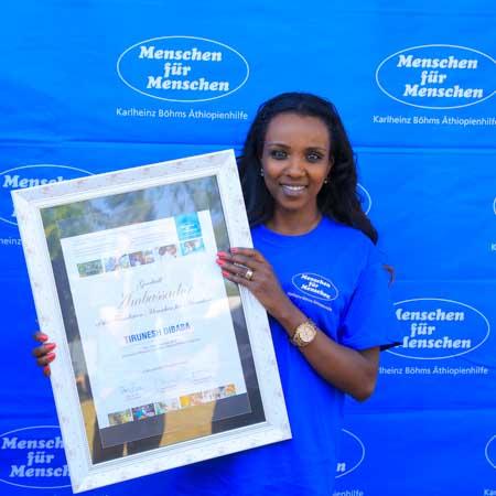 Tirunesh Dibaba Botschafterin Menschen für Menschen