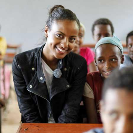 Sara Nuru Botschafterin Menschen für Menschen