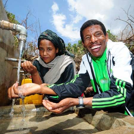 Haile Gebrselassie Botschafter Menschen für Menschen